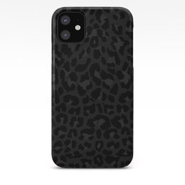Dark abstract leopard print iPhone Case
