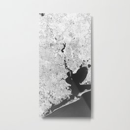 Houston Texas USA - High resolution satellite view of Earth from Space - Black and white Metal Print