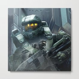 Double Master Chief | Halo Metal Print