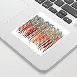 Twenty Years of Paintbrushes Sticker