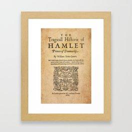 Shakespeare, Hamlet 1603 Framed Art Print