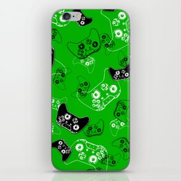 Video Game Green iPhone Skin