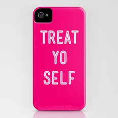 Treat Yo Self Pink- Parks and Recreation Slim Case iPhone (4, 4s)