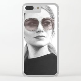 Emma Stone Clear iPhone Case