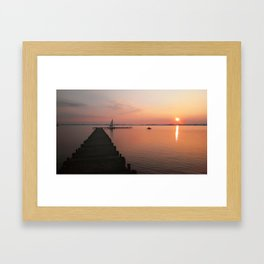 Evening at the lake in Germany Framed Art Print