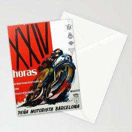 Vintage Pena Motorista Barcelona Poster Stationery Cards