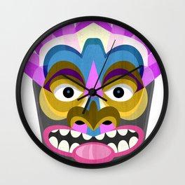 Tropical Tiki Mask Wall Clock