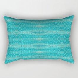 Blue Glass Diamonds Rectangular Pillow