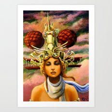 Unicorn Travel Headgear Art Print