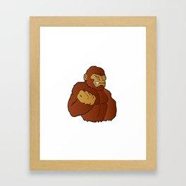 cartoon gorilla Framed Art Print