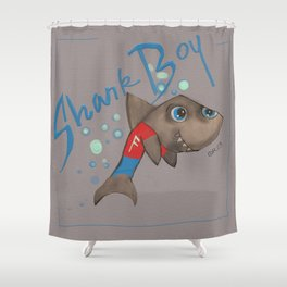 SHARK BOY Shower Curtain