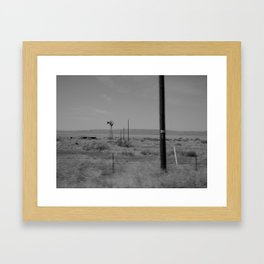 on the way to Marfa #2 Framed Art Print