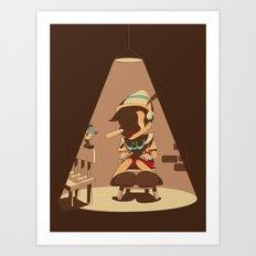 Nosey Interrogation Art Print