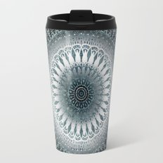 WINTER LEAVES MANDALA Travel Mug