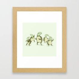 Dancing Turtles Framed Art Print