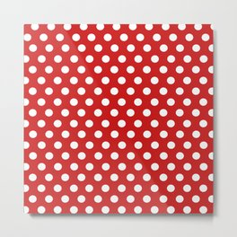 Red Dot Pattern Metal Print