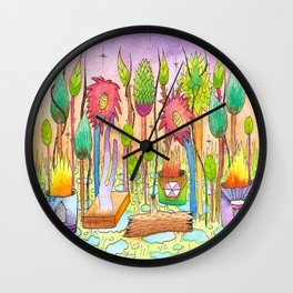 Dream Garden 2 Wall Clock