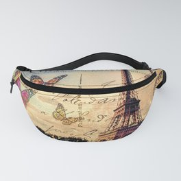 Vintage Paris-Carte Postale Fanny Pack