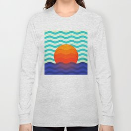 019 OWLY swimming at the sunrise Long Sleeve T-shirt