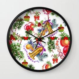 Festive Holidays Wall Clock