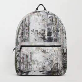 Abstract Silver Grunge Birch Backpack