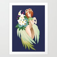 Art Print featuring Elle (Legend of Mana) by rifaen