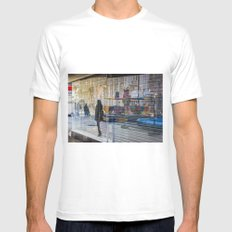 Walk on By SMALL White Mens Fitted Tee