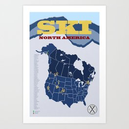 Ski North America - Alternate I Art Print