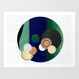 the study of circles... Art Print