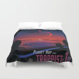 NASA Visions of the Future - Planet Hop from Trappist-1e Duvet Cover