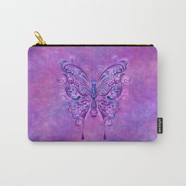 Butterfly In Purple Carry-All Pouch
