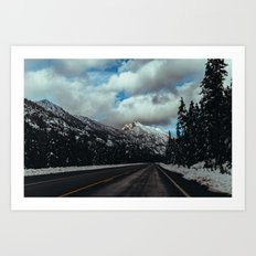 Driving in the North Cascades Art Print