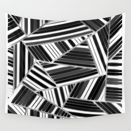 Triangles Black & White Wall Tapestry
