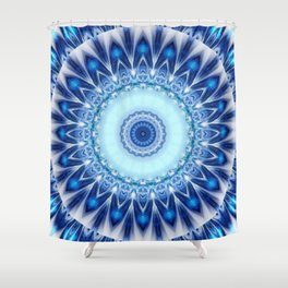 Mandala Iceblue Shower Curtain