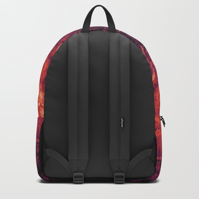 Brother Meditation - red purple Backpack