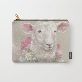 Sheep With Floral Wreath by Debi Coules Carry-All Pouch