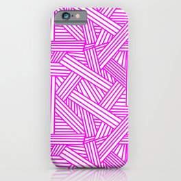 Sketchy Abstract (Magenta & White Pattern) iPhone Case