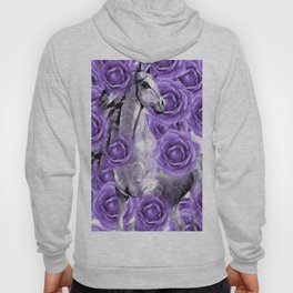 HORSES AND PURPLE ROSES AND HORSES Hoody