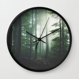 Dreary Black Wall Clock