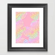 Unicorn Monstera Framed Art Print