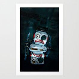 BUSTED ROBOT Art Print