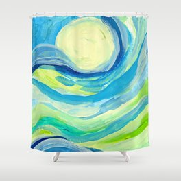 When the Sky Meets the Earth Shower Curtain