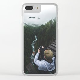Vance Creek Bridge - Olympic National Park, WA Clear iPhone Case