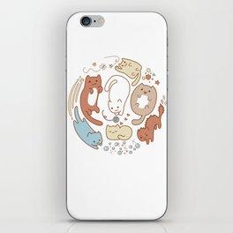 Seven cute cats. iPhone Skin