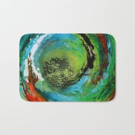 Maelstrom, captivating abstract painting Bath Mat