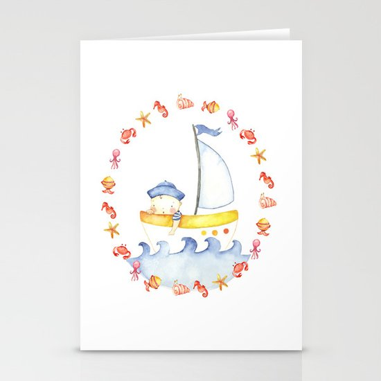Baby sailor Stationery Cards