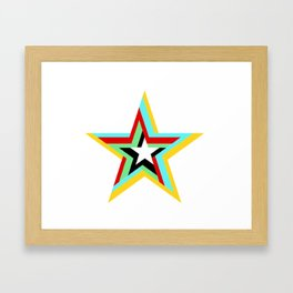 6 Star Framed Art Print