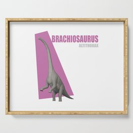 Low Poly Dinosaur - Brachiosaurus Serving Tray