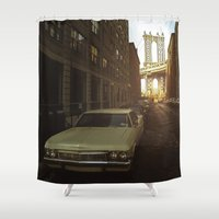 brooklyn Shower Curtains featuring Brooklyn by Parissis