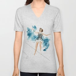 The Tightrope Walker Unisex V-Neck